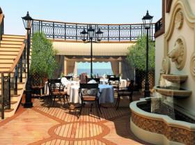 Croisieres de luxe Cunard Croisière princess grill court yard