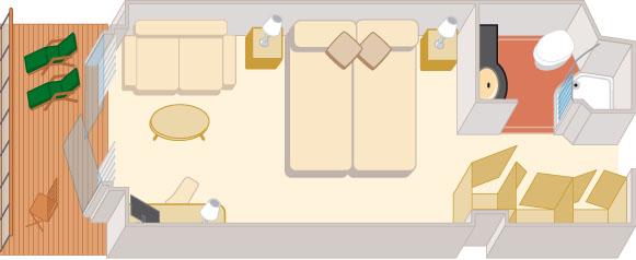 Croisieres de luxe cunard qv Croisières exterieure balcon a