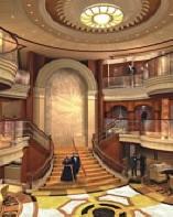 Croisieres de luxe Cunard Croisière espace public lobby